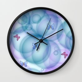 Butterfly Babies Wall Clock