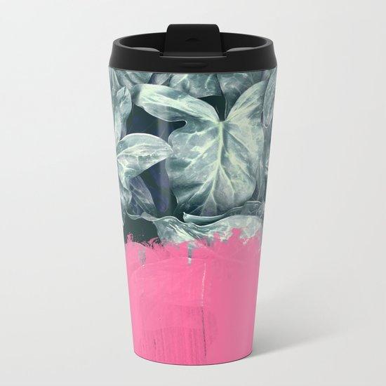 Pink Sorbet on Jungle Metal Travel Mug