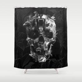 Kingdom Skull B&W Shower Curtain