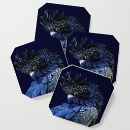 Australian Red-Tailed Black Cockatoo in Blue Coaster
