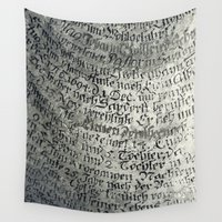 writing Wall Tapestries featuring ancient writing by Falko Follert Art-FF77