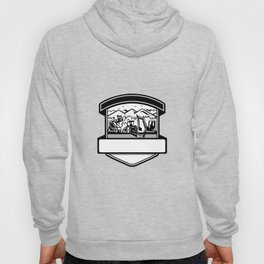 Tree Mulching Bush Hogging Excavation Services Badge Hoody