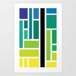 City Tiles Art Print