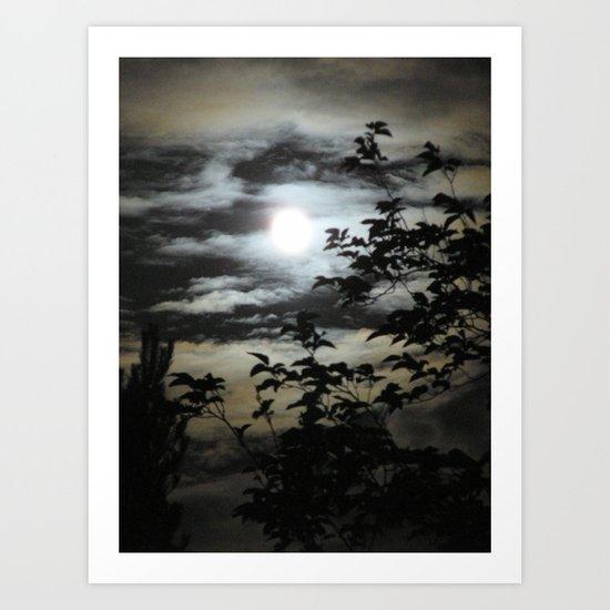 Zooma Moon Art Print