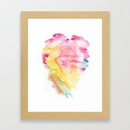 PINK TIDE WATERCOLOR Framed Art Print