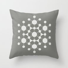 flower of life, alien crop circle, sacred geometry Throw Pillow