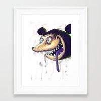 mike wrobel Framed Art Prints featuring Mike  by Crooked Octopus