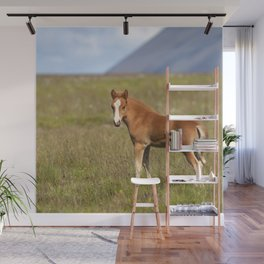 Watercolor Horse 28, Icelandic Pony, Höfn, Iceland, WhasUp? Wall Mural