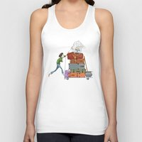 hedwig Tank Tops featuring Harry and Hedwig  by Lesley Vamos