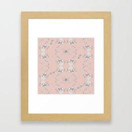 Acorns and ladybugs pink pattern Framed Art Print