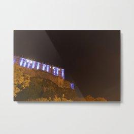 Edinburgh Castle in Blue 2 Metal Print