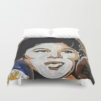 philippines Duvet Covers featuring Our Lady of Size 8 1/2 by Matt Pecson