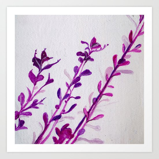 Pink Stems Art Print