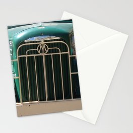 Mack Truck Grill, Mack Truck, Old Truck, Green Stationery Cards