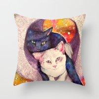 zelda Throw Pillows featuring nick & zelda by Beth Little