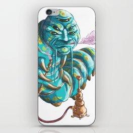 alice in wonderland hookah smoking caterpillar iPhone Skin