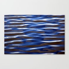 Blue Corrugated Water Canvas Print