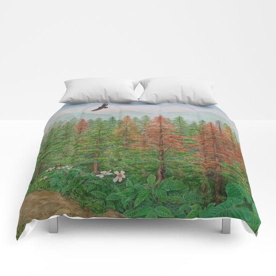 A Day of Forest(8). (coniferous forest) Comforters