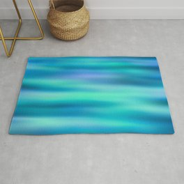 Mermaid Lake - Blue Green Aesthetic Rug