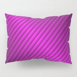 Purple Oblique Stripes Pillow Sham