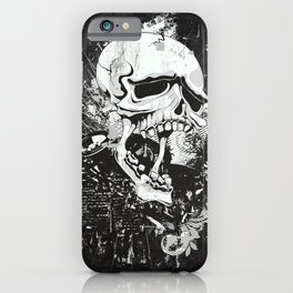 Dark Gothic Skull iPhone Case