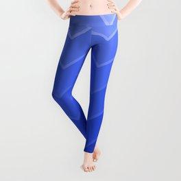 Gradient Blue Zig-Zags Leggings