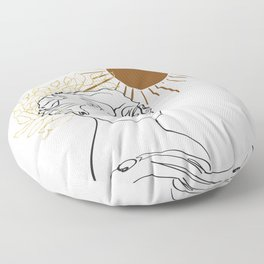 The Sun Of Rome Floor Pillow