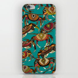crabs teal iPhone Skin