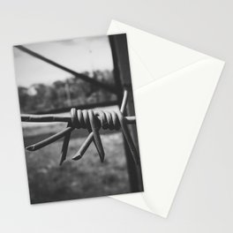 barbed wire Stationery Cards
