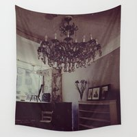 chandelier Wall Tapestries featuring Antique by Jane Lacey Smith