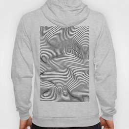 Abstract Wave Lines Hoody