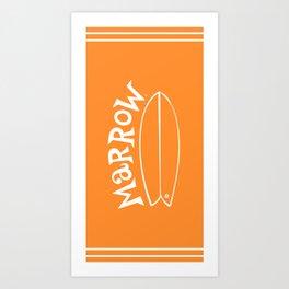 Surfari Orange 50/50 · Marrow  Art Print