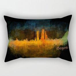 Bogota City Skyline Hq V4 Rectangular Pillow