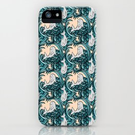 Whales and Waves iPhone Case