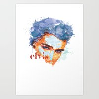 elvis Art Prints featuring Elvis by I AM DIMITRI