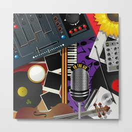 Music collage Metal Print