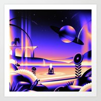 oasis Art Prints featuring Oasis by victormgraphics