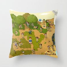 Super Battle Royale Throw Pillow