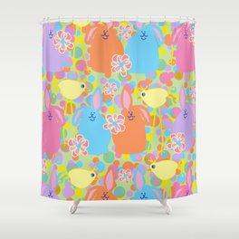 Bunnies and Friends Shower Curtain