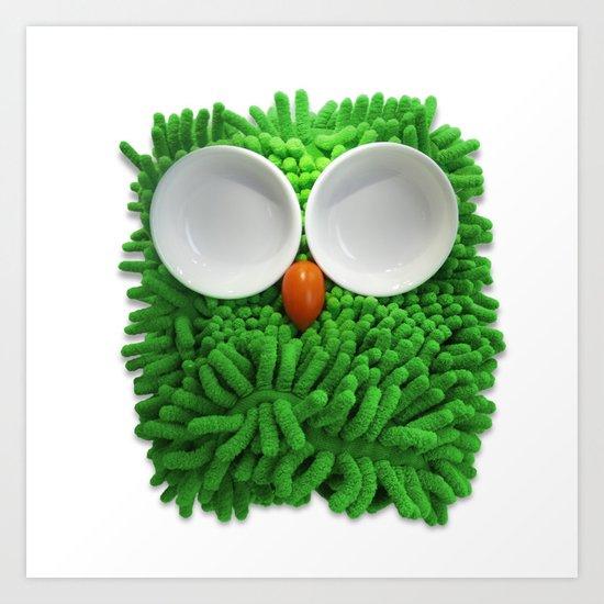 Hootie the House Owl! Art Print