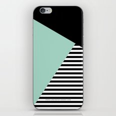 Mint Color Block with Stripes // www.penncilmeinstationery.com iPhone & iPod Skin