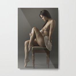 beige stockings 14 Metal Print