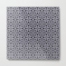 My Lucky Day Lilac Gray Metal Print
