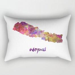 Nepal in watercolor Rectangular Pillow