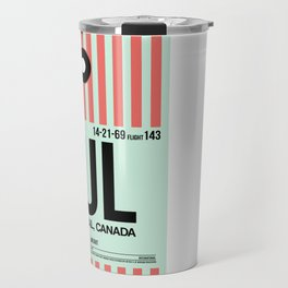 YUL Montreal Luggage Tag 2 Travel Mug