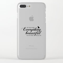 Eccle 3:11 He has made everything beautiful in its time.Christian Bible Verse Clear iPhone Case
