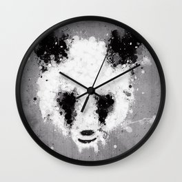 panda paint Wall Clock