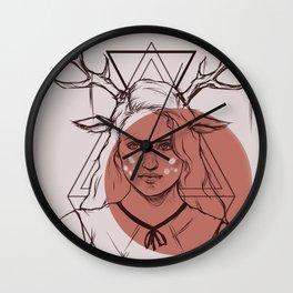 Bambi Lady Wall Clock
