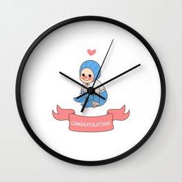 Happy baby Wall Clock