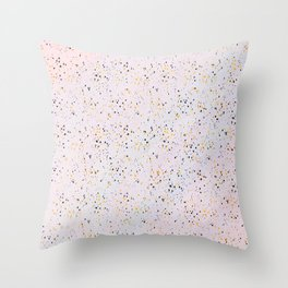 Abstract artsy black gold watercolor confetti Throw Pillow
